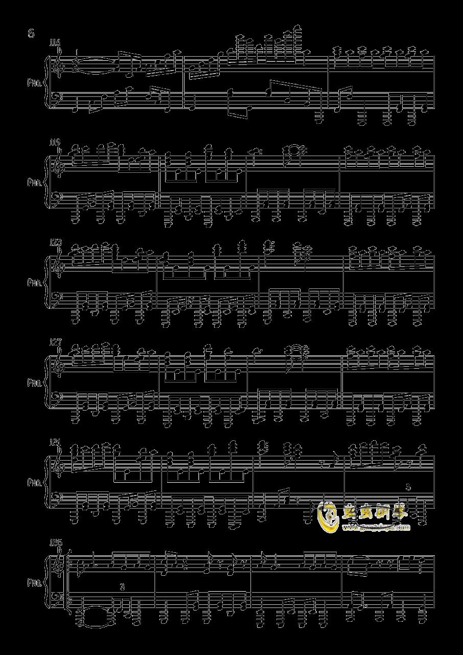 す�`ぱ�`ぬこわ�`るど钢琴谱 第6页