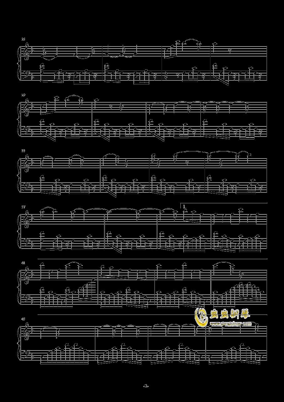 魔法使いの夜~メインテ�`マ钢琴谱 第2页