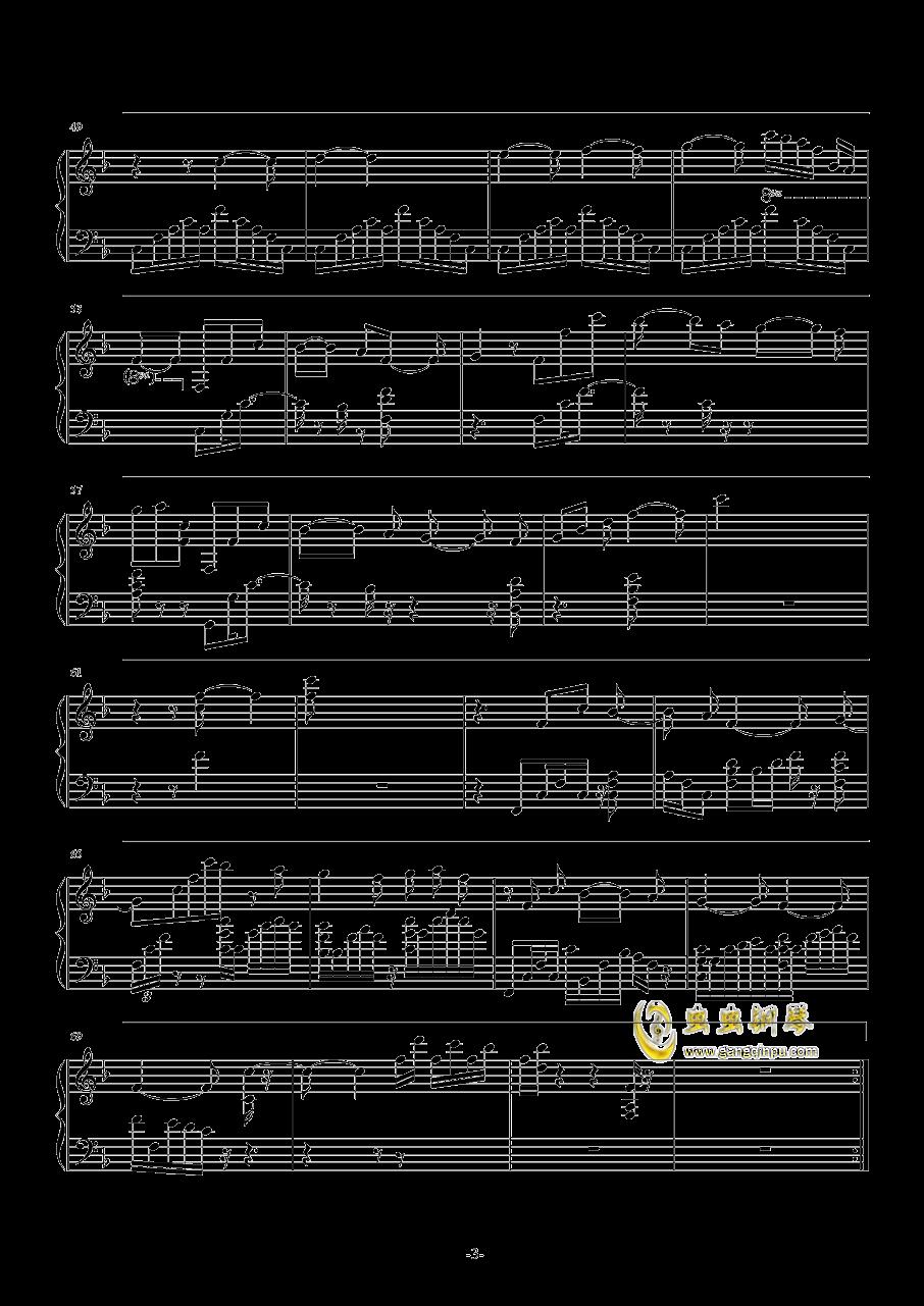 魔法使いの夜~メインテ�`マ钢琴谱 第3页