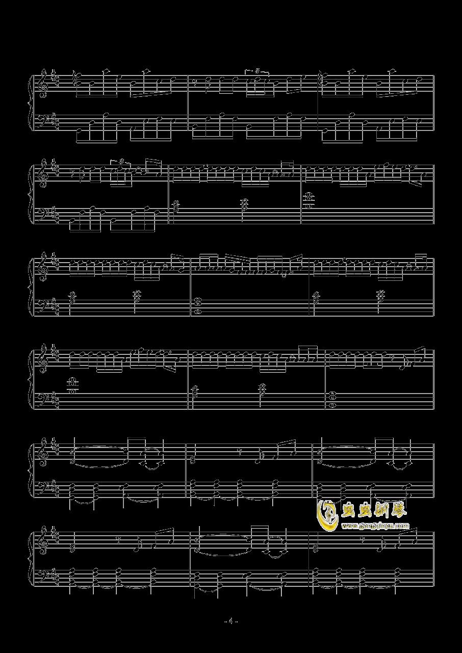 病名为爱钢琴谱 第4页