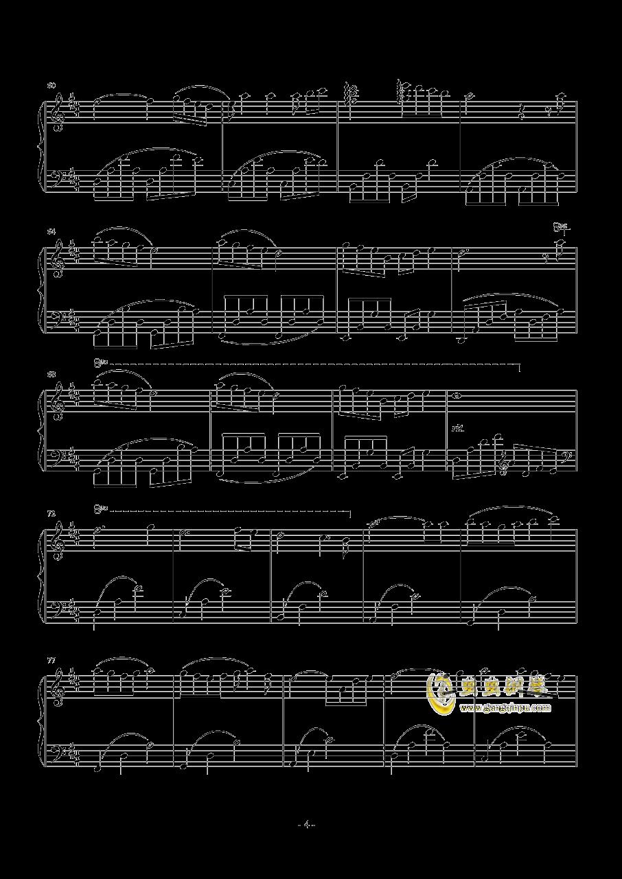 你好甜钢琴谱 第4页