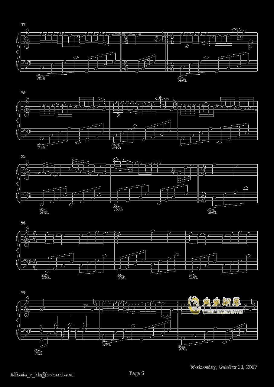 �]有你的十一月钢琴谱 第2页