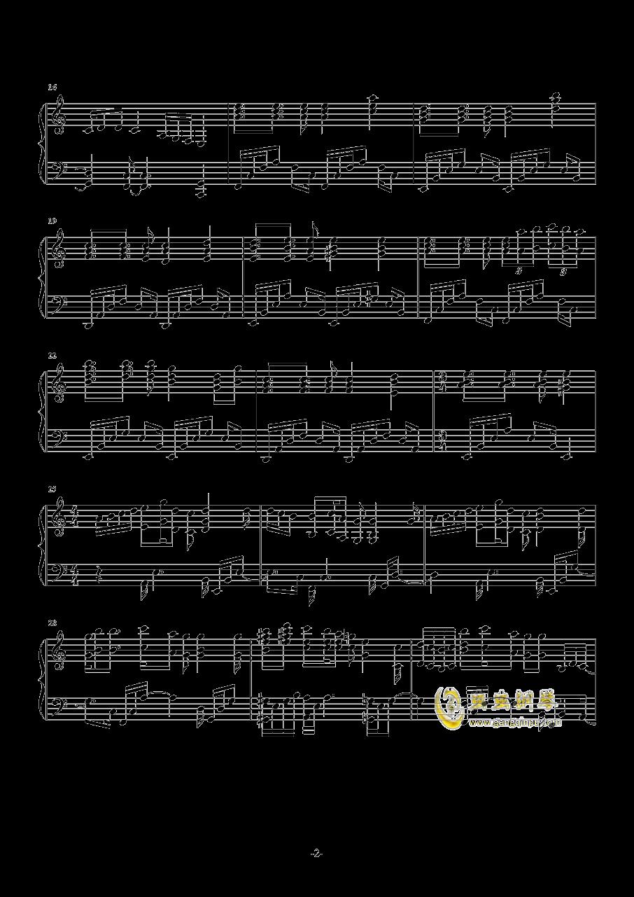 甘城光辉游乐园钢琴谱 第2页