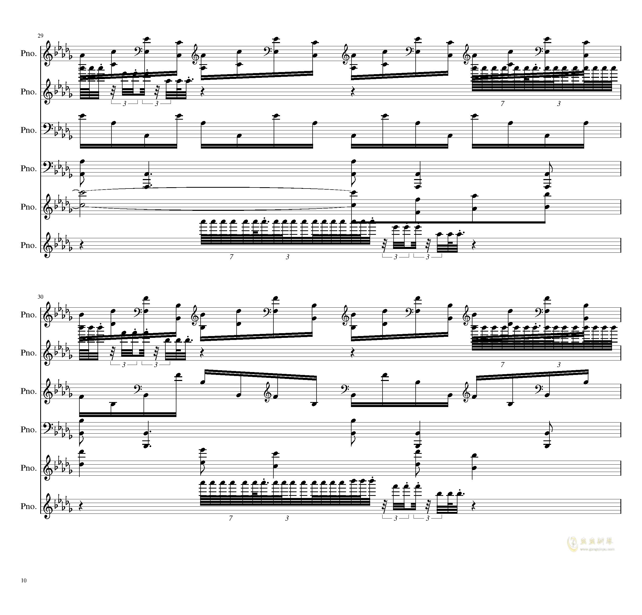 两小时挑战钢琴谱 第10页