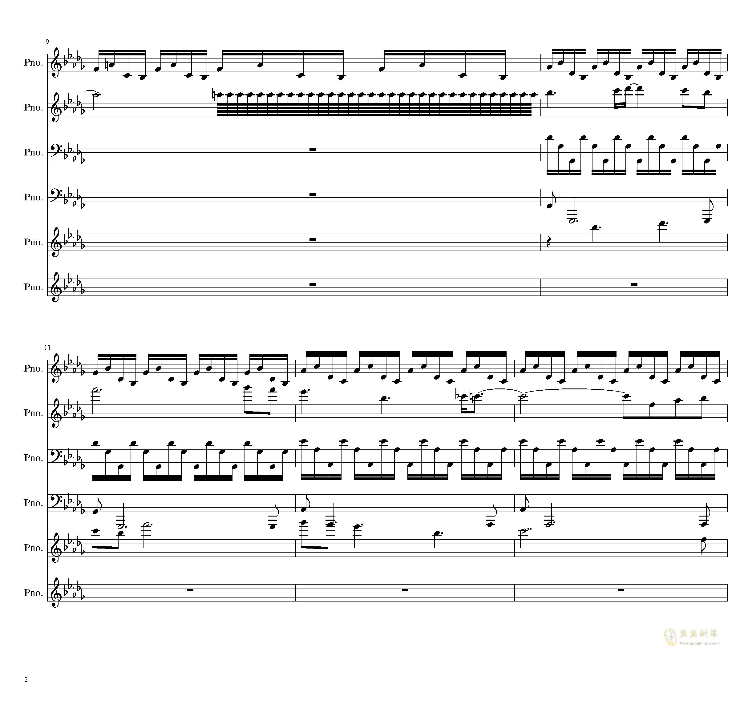两小时挑战钢琴谱 第2页