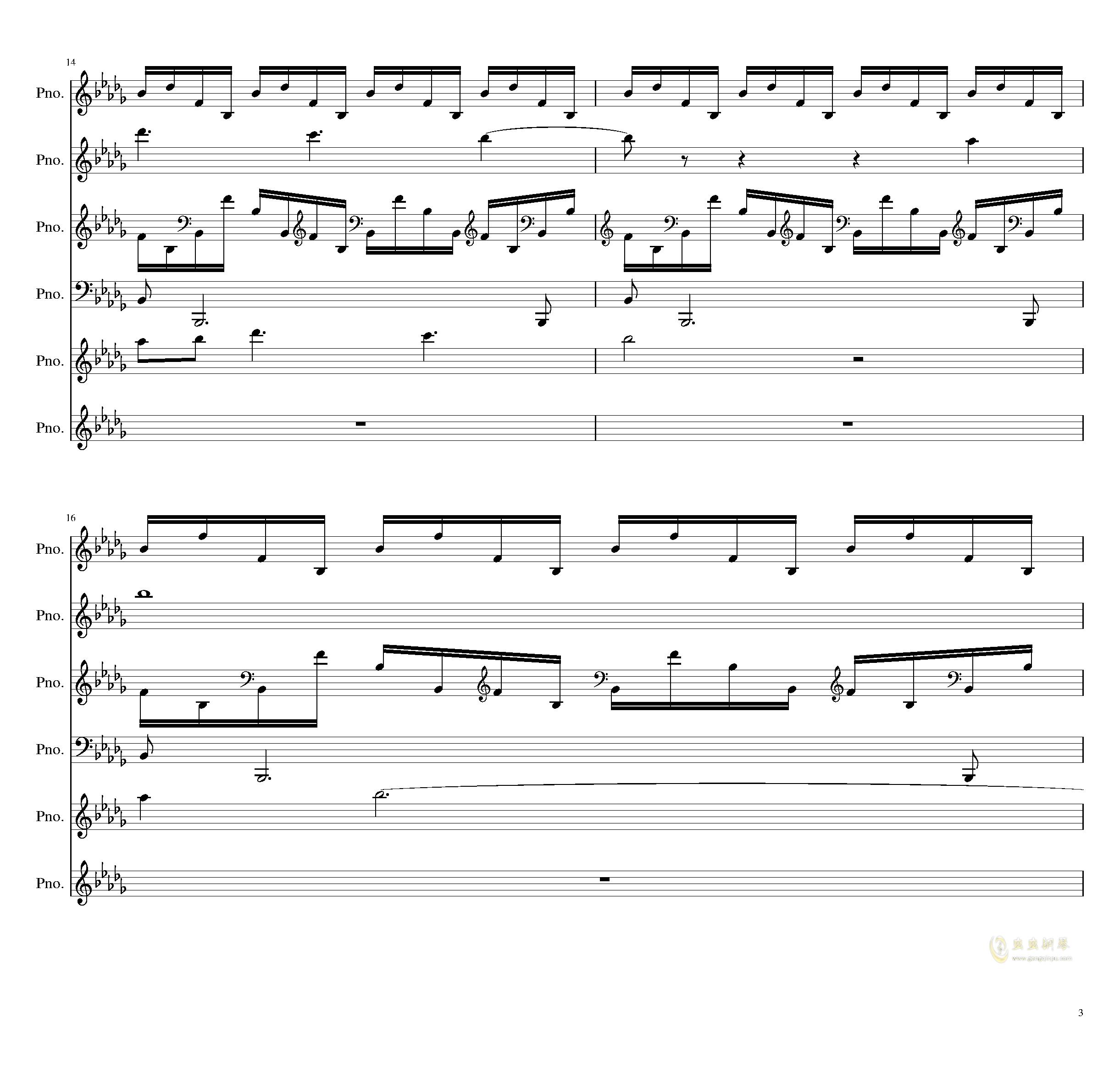 两小时挑战钢琴谱 第3页