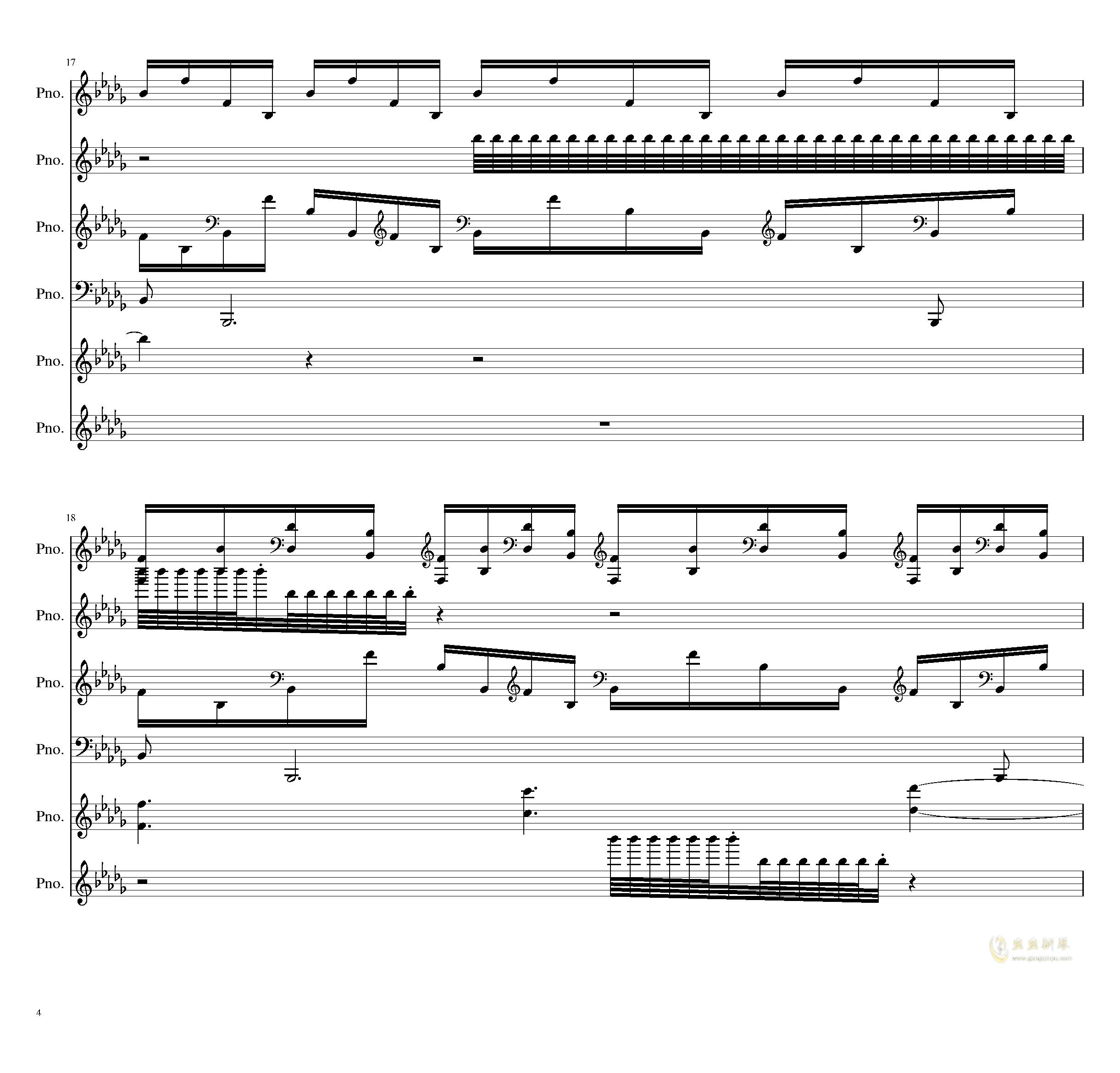 两小时挑战钢琴谱 第4页