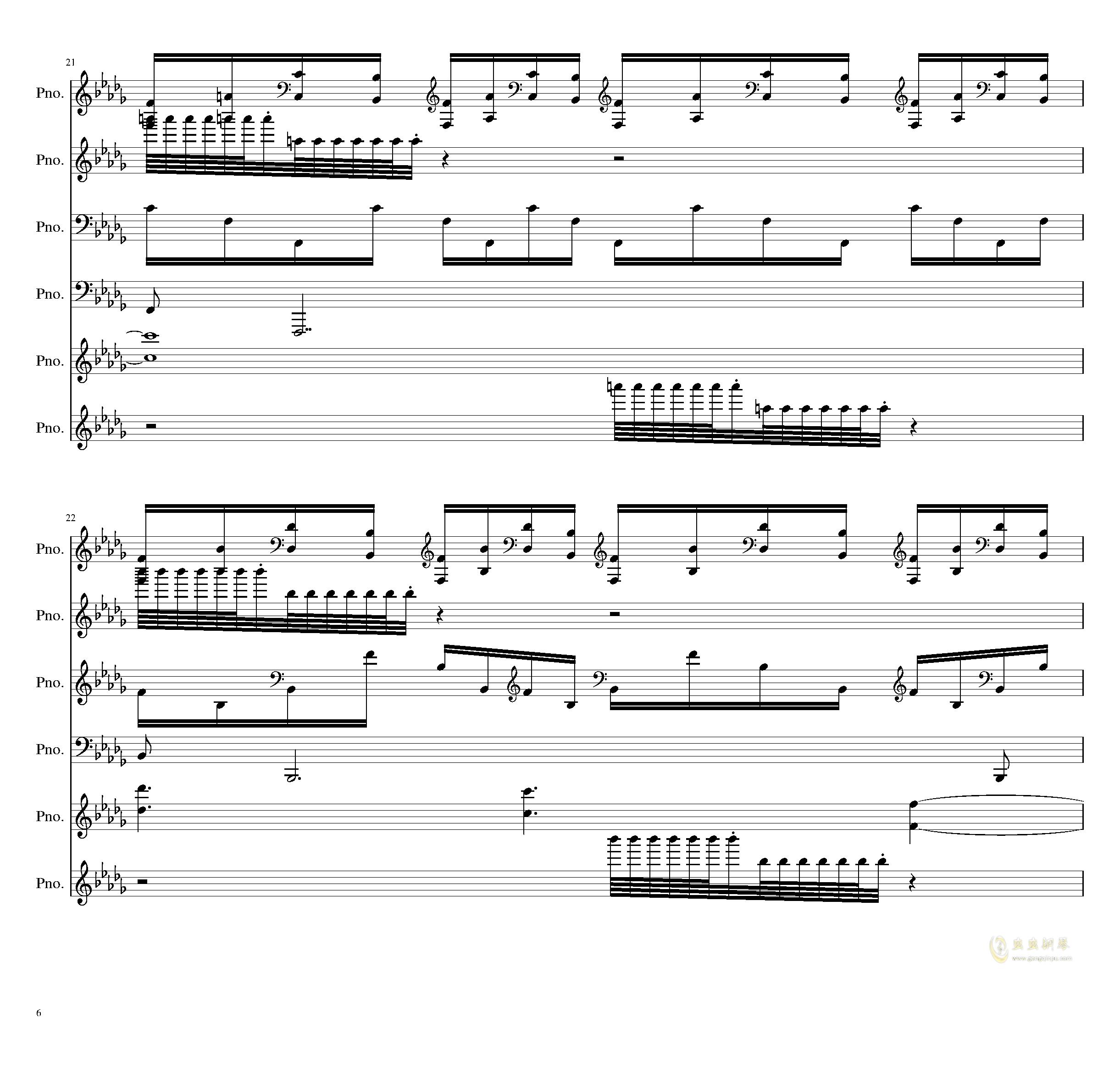 两小时挑战钢琴谱 第6页