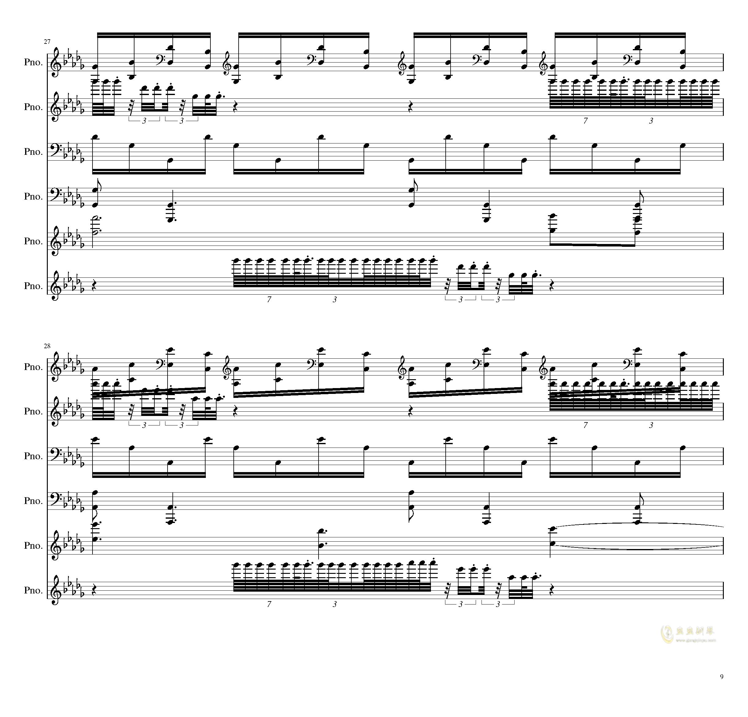 两小时挑战钢琴谱 第9页