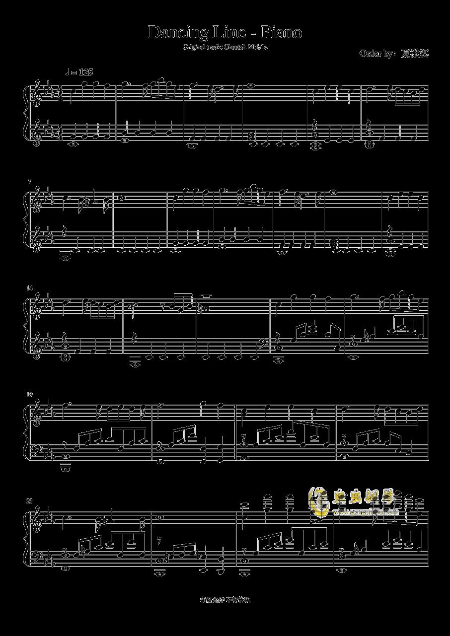 跳舞的线 钢琴谱 第1页
