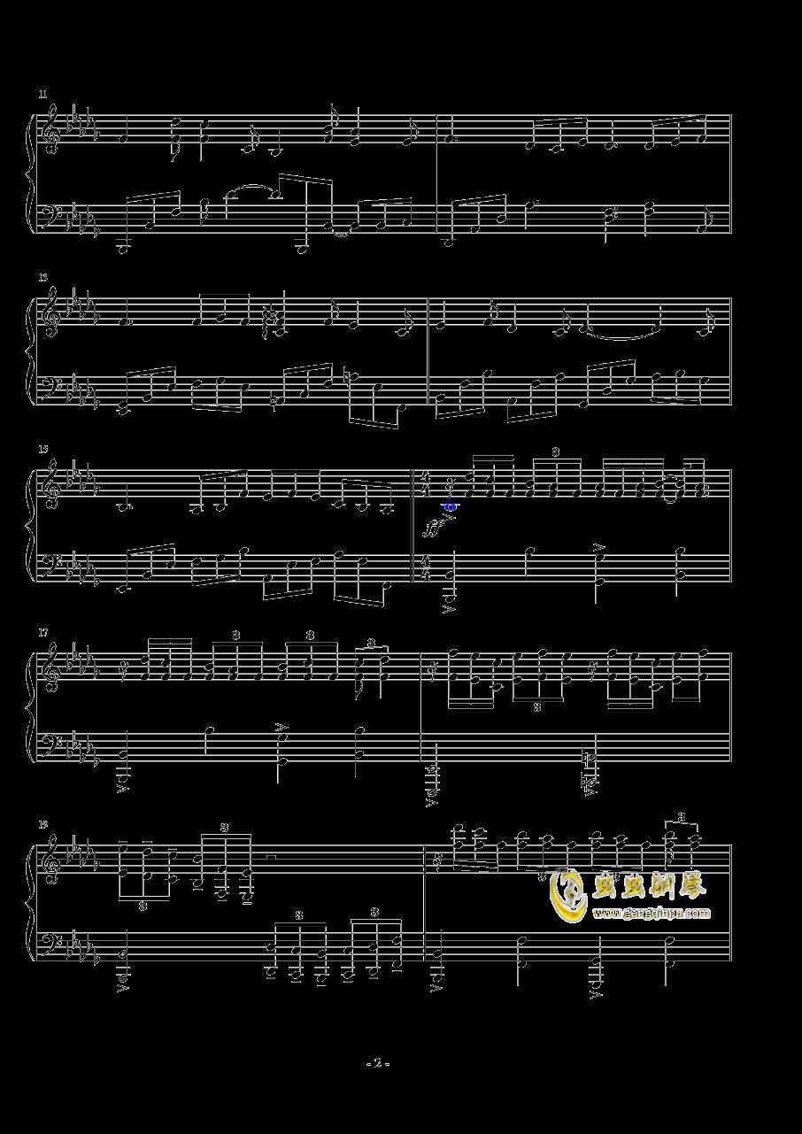 前奏曲钢琴谱 第2页