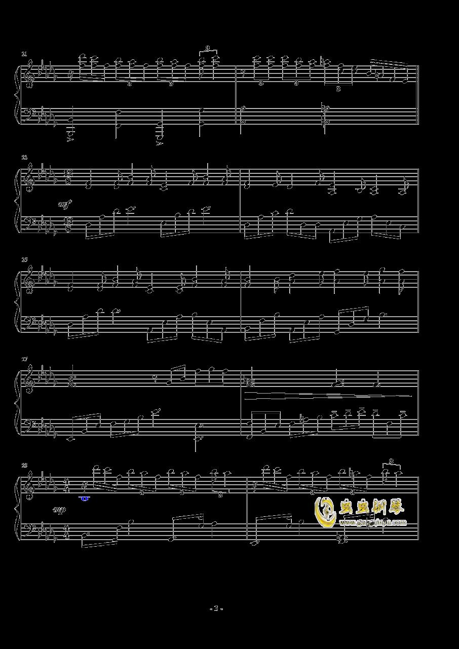 前奏曲钢琴谱 第3页