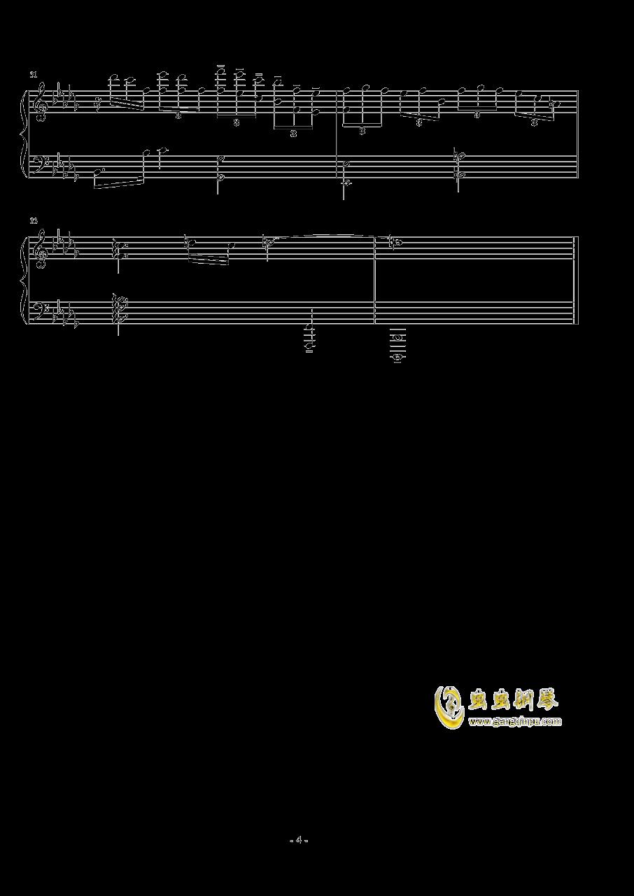 前奏曲钢琴谱 第4页