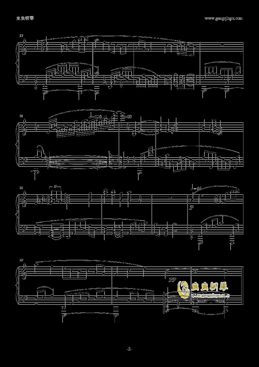 夜~钢琴谱 第2页