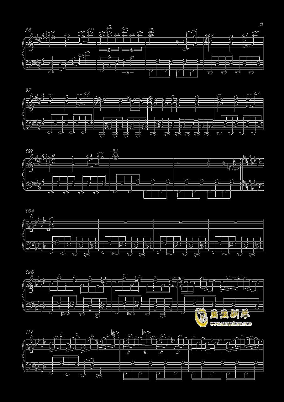 風神少女钢琴谱 第5页