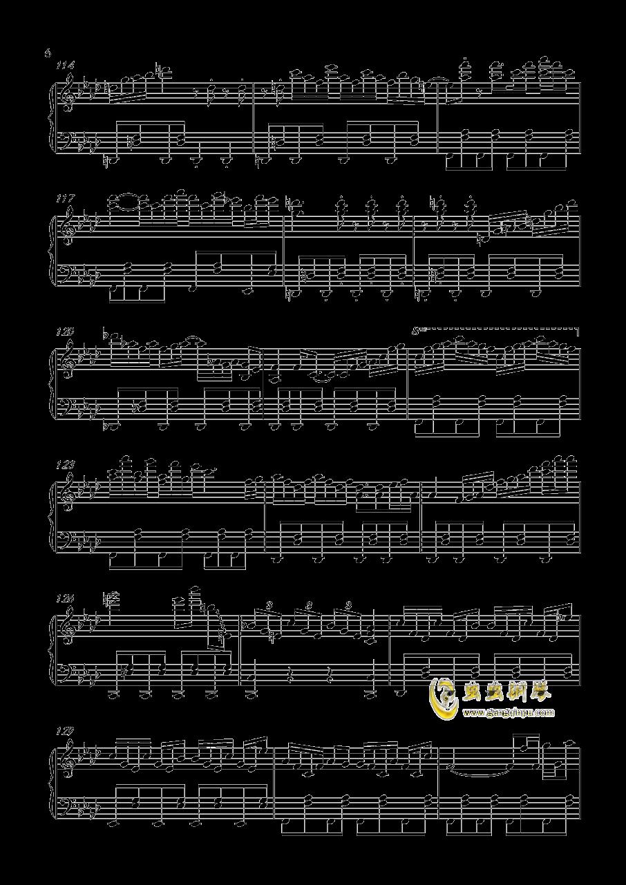 風神少女钢琴谱 第6页