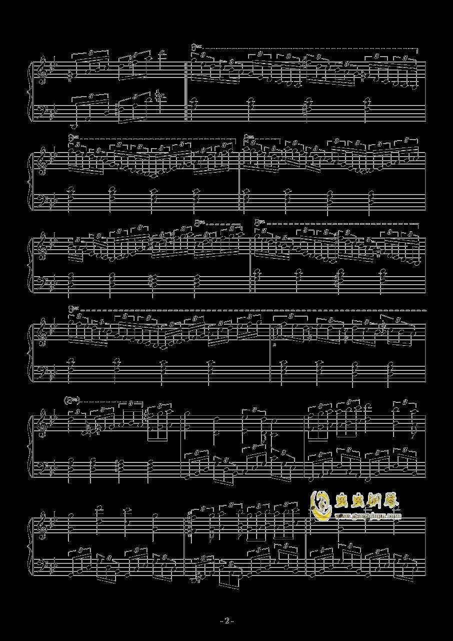 梦到内河钢琴谱 第2页