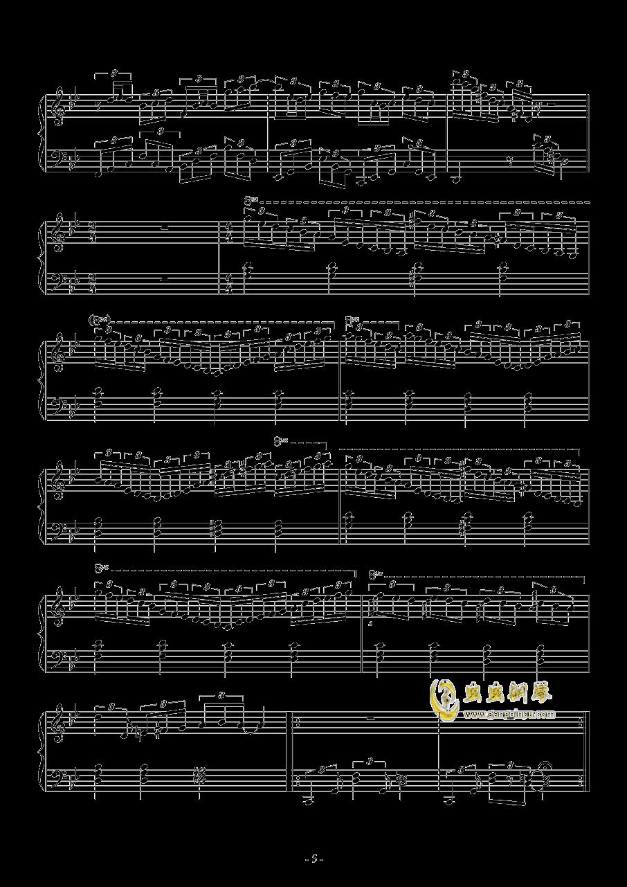 梦到内河钢琴谱 第5页