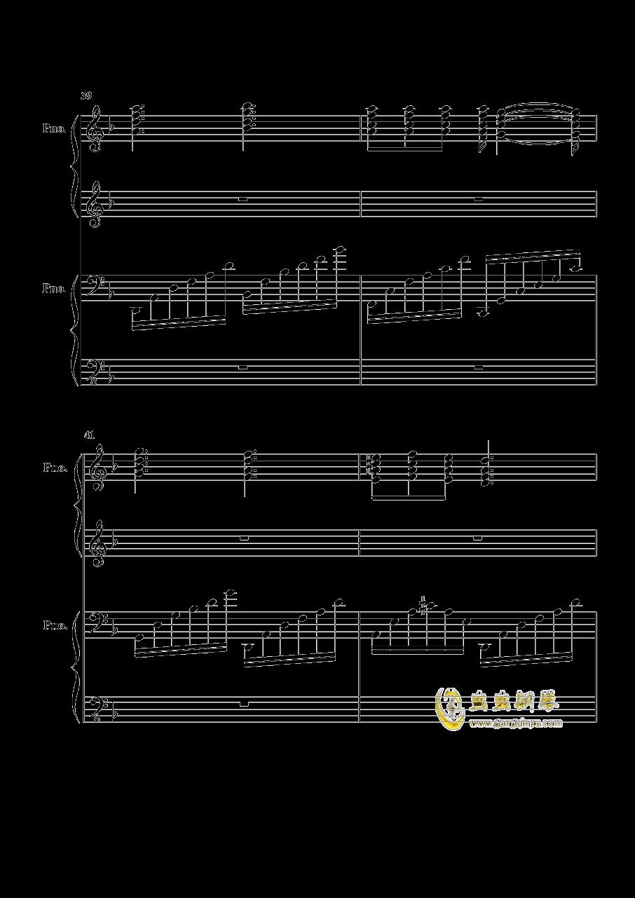 加勒比海盗钢琴谱 第10页