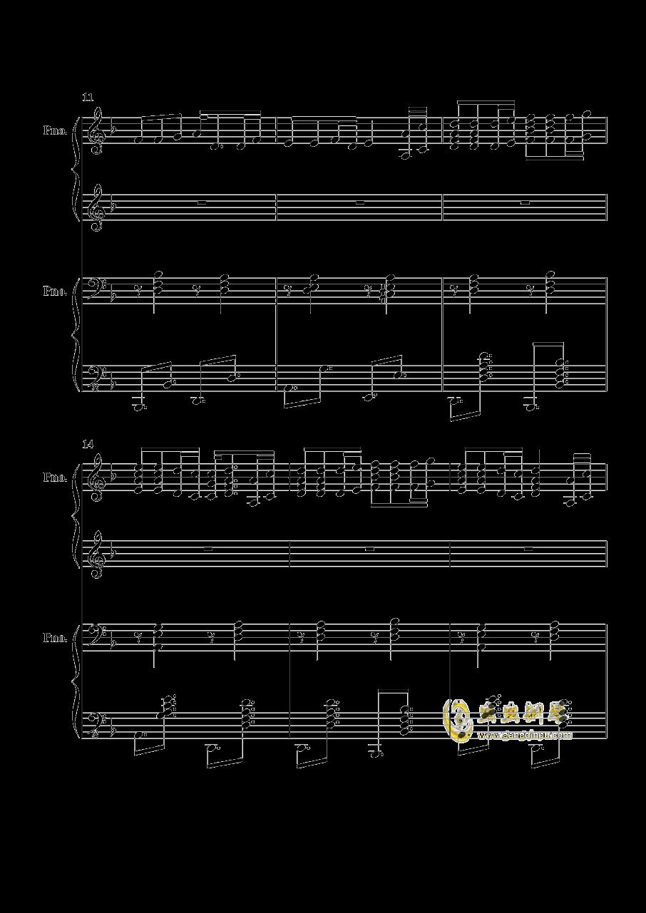 加勒比海盗钢琴谱 第3页