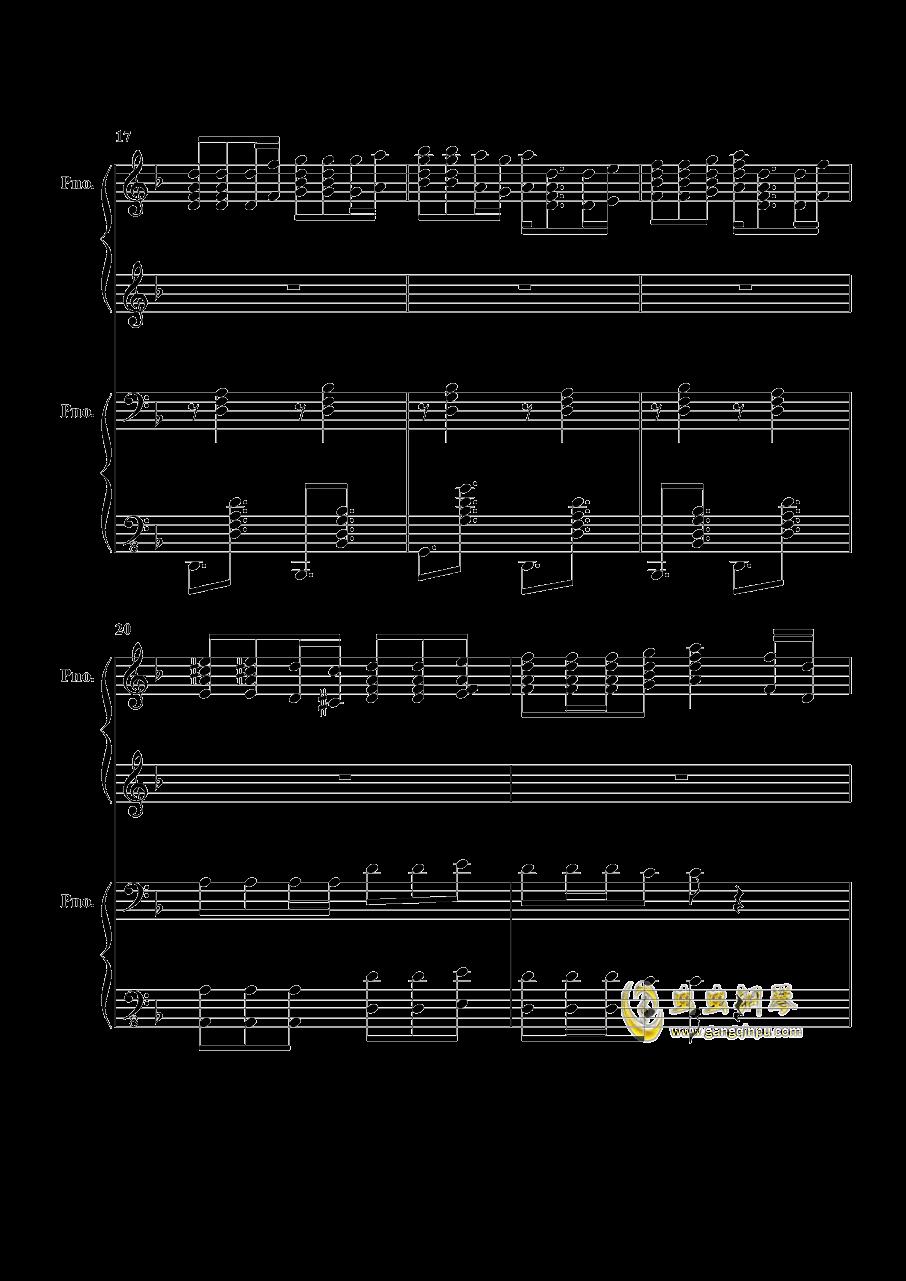 加勒比海盗钢琴谱 第4页