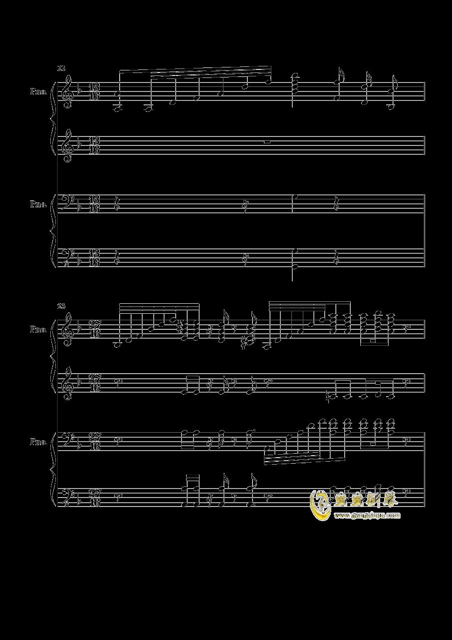 加勒比海盗钢琴谱 第5页