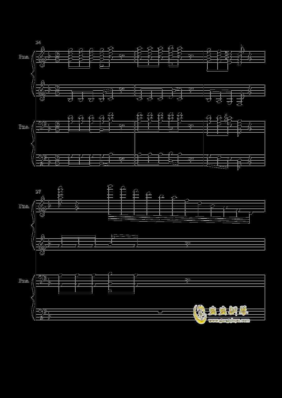 加勒比海盗钢琴谱 第6页