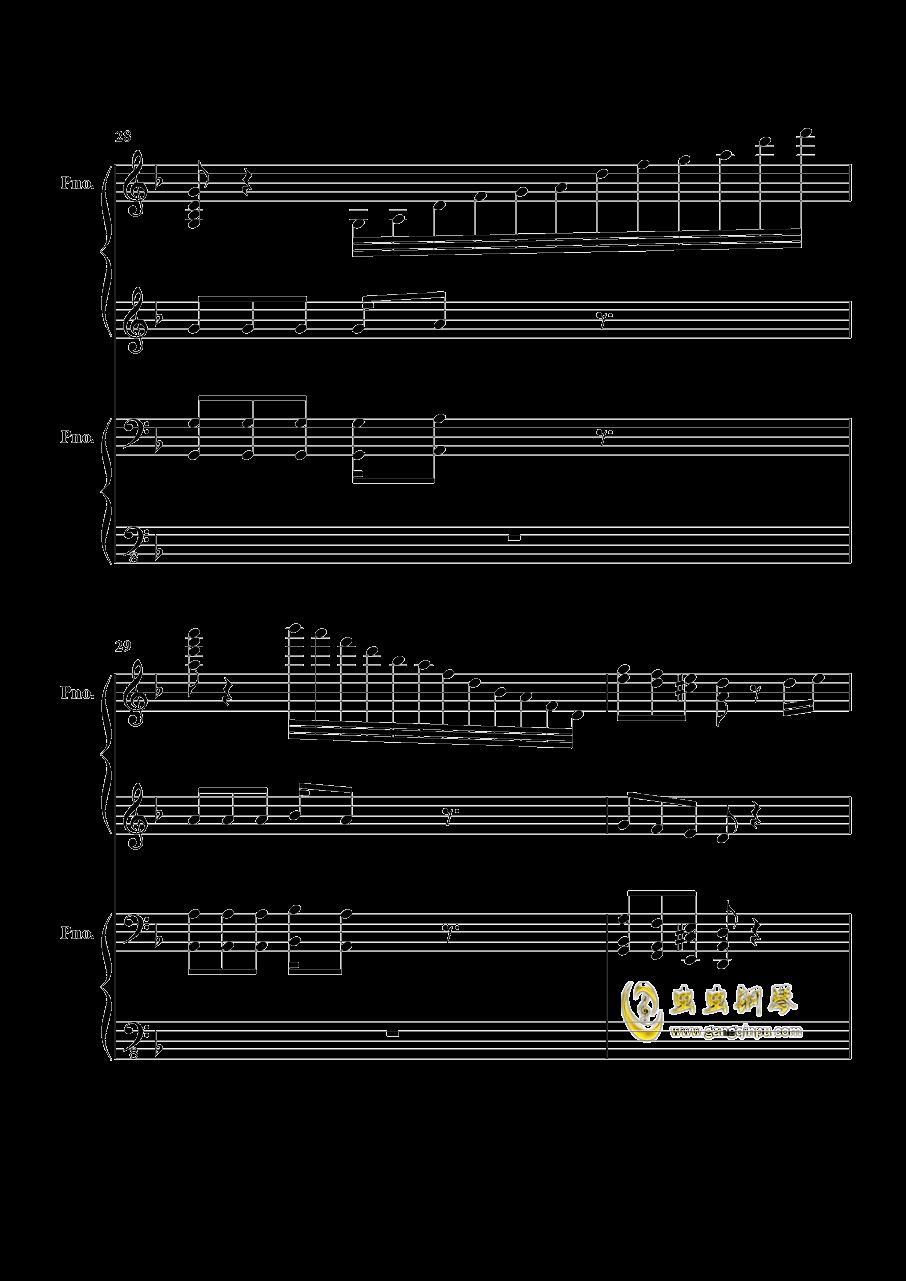 加勒比海盗钢琴谱 第7页