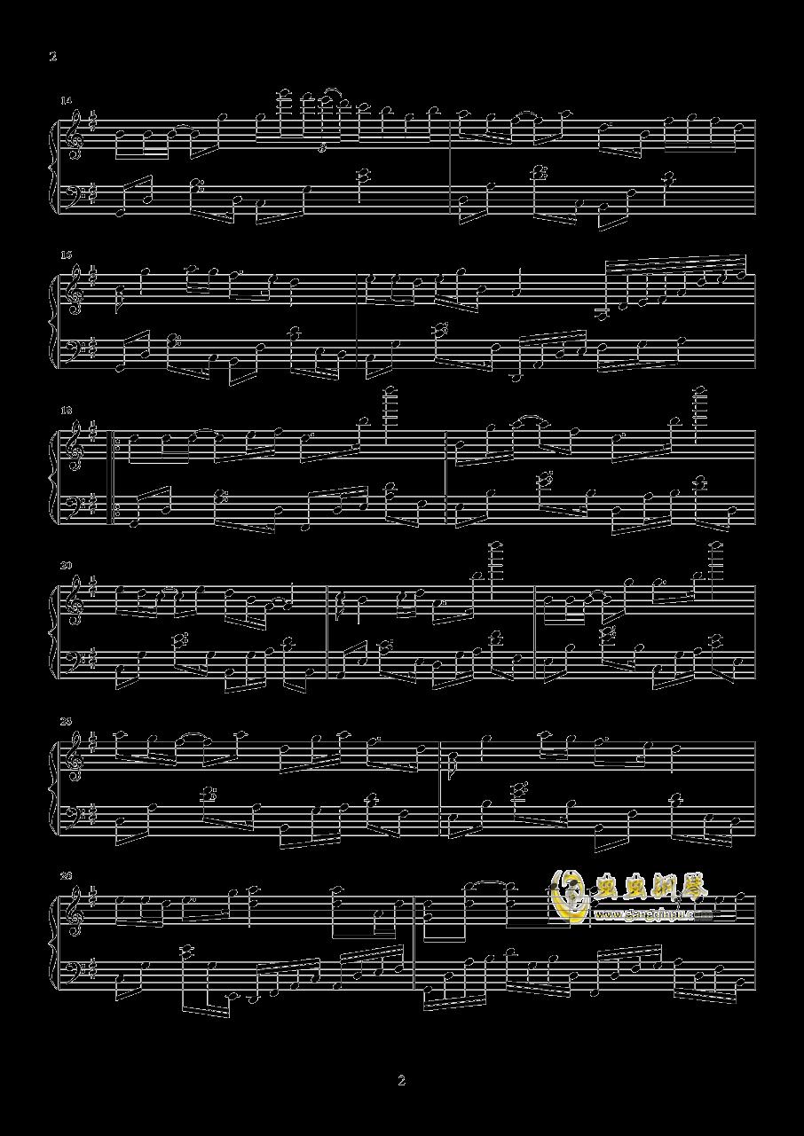 以后的以后钢琴谱 第2页