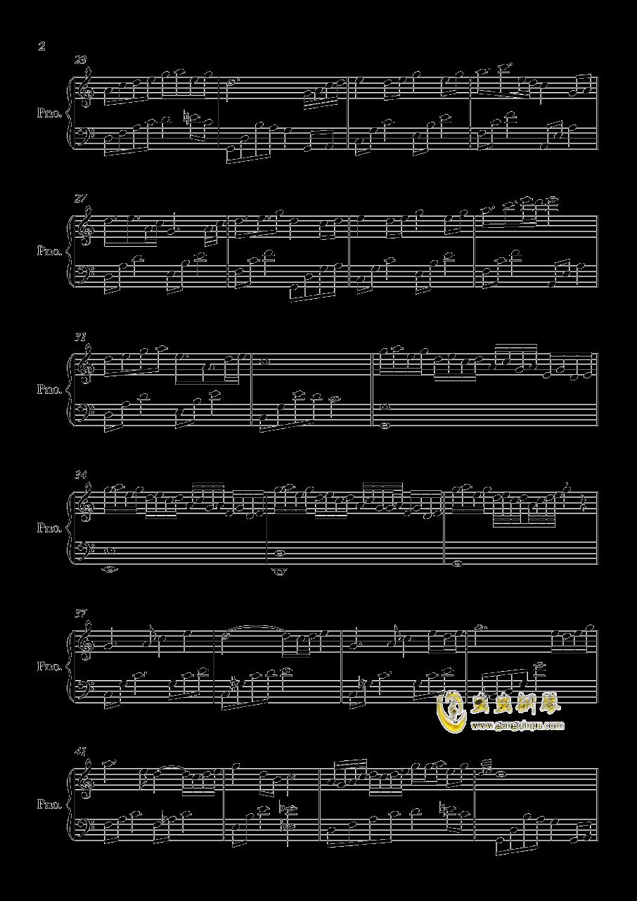 一夕海棠钢琴谱 第2页