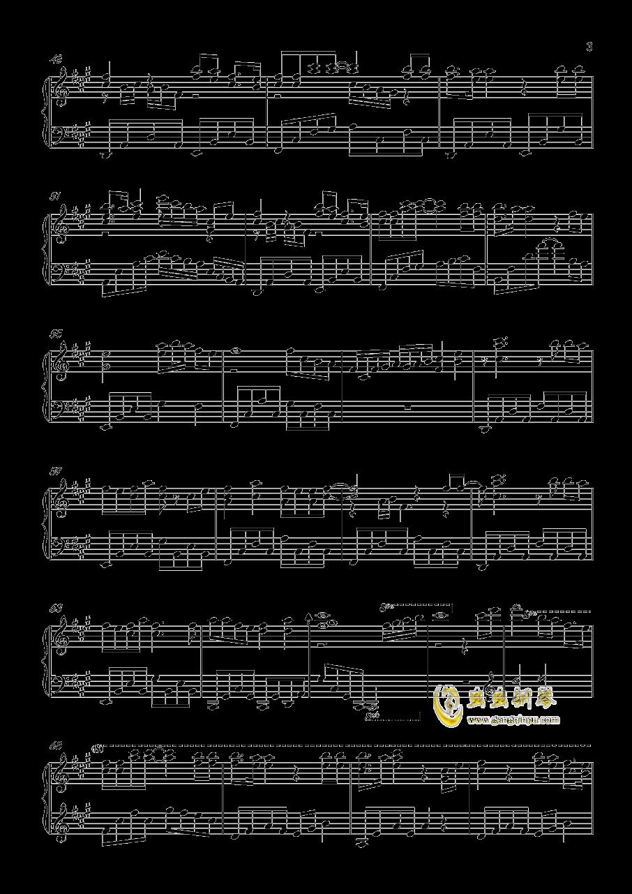 一番�_��な私を钢琴谱 第3页