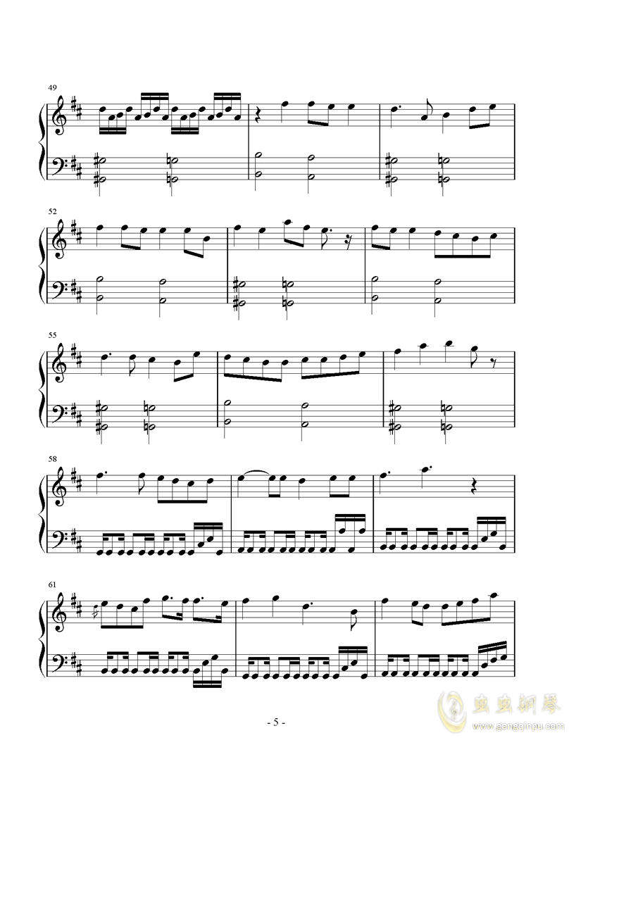 恋は�檎�钢琴谱 第5页