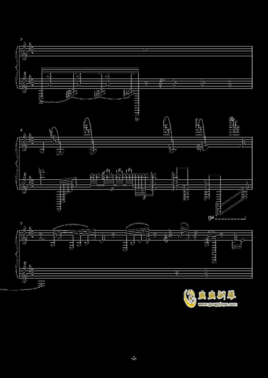 古朴钢琴谱 第2页