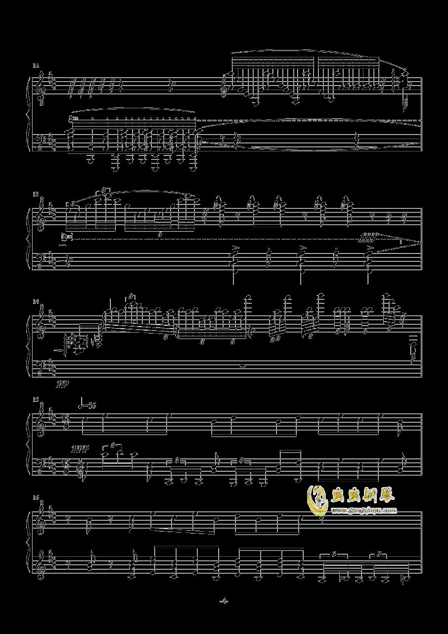 古朴钢琴谱 第4页