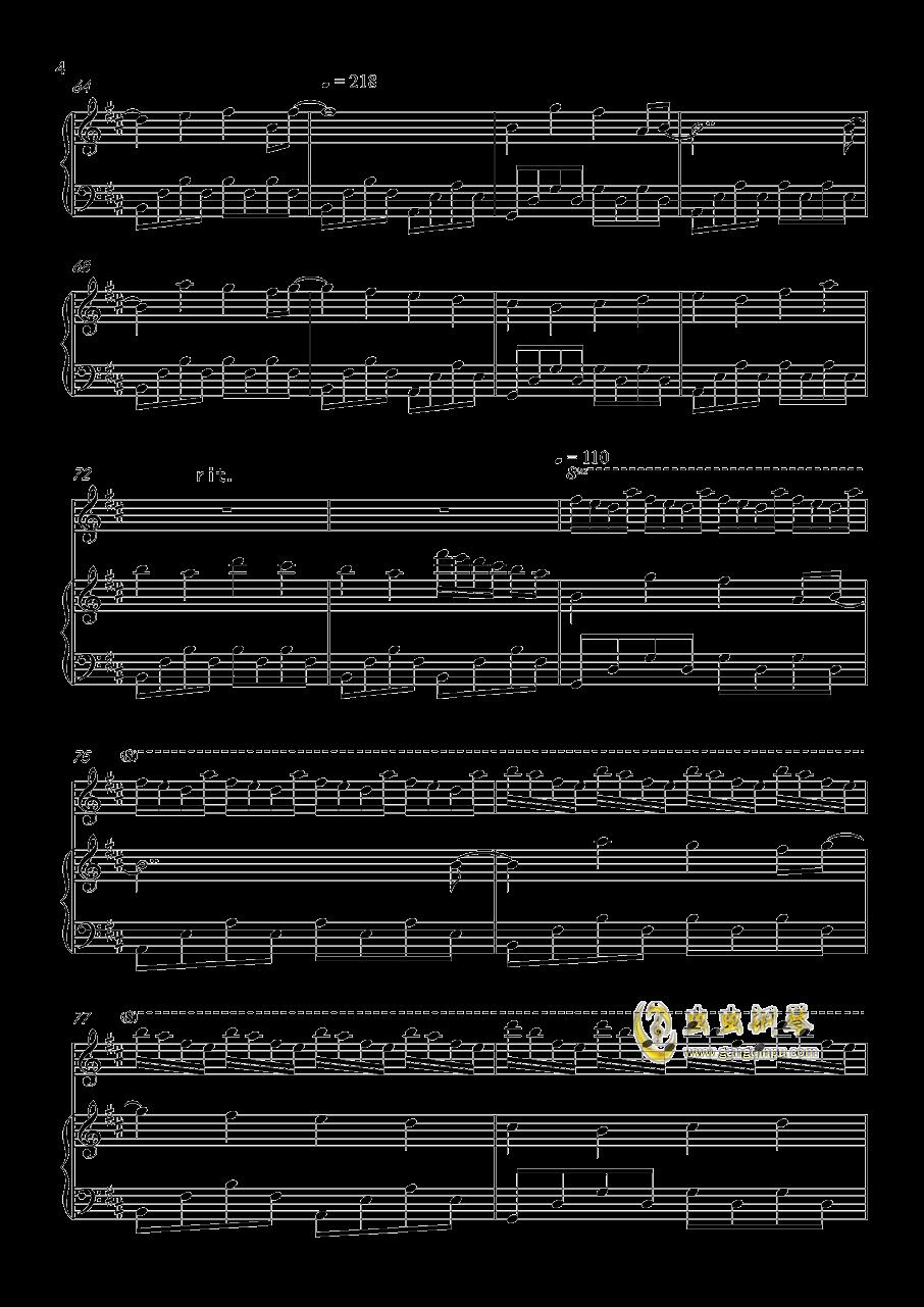 玖原イヅナ -  幻想世界 (原曲:ネクロファンタジア)钢琴谱 第4页