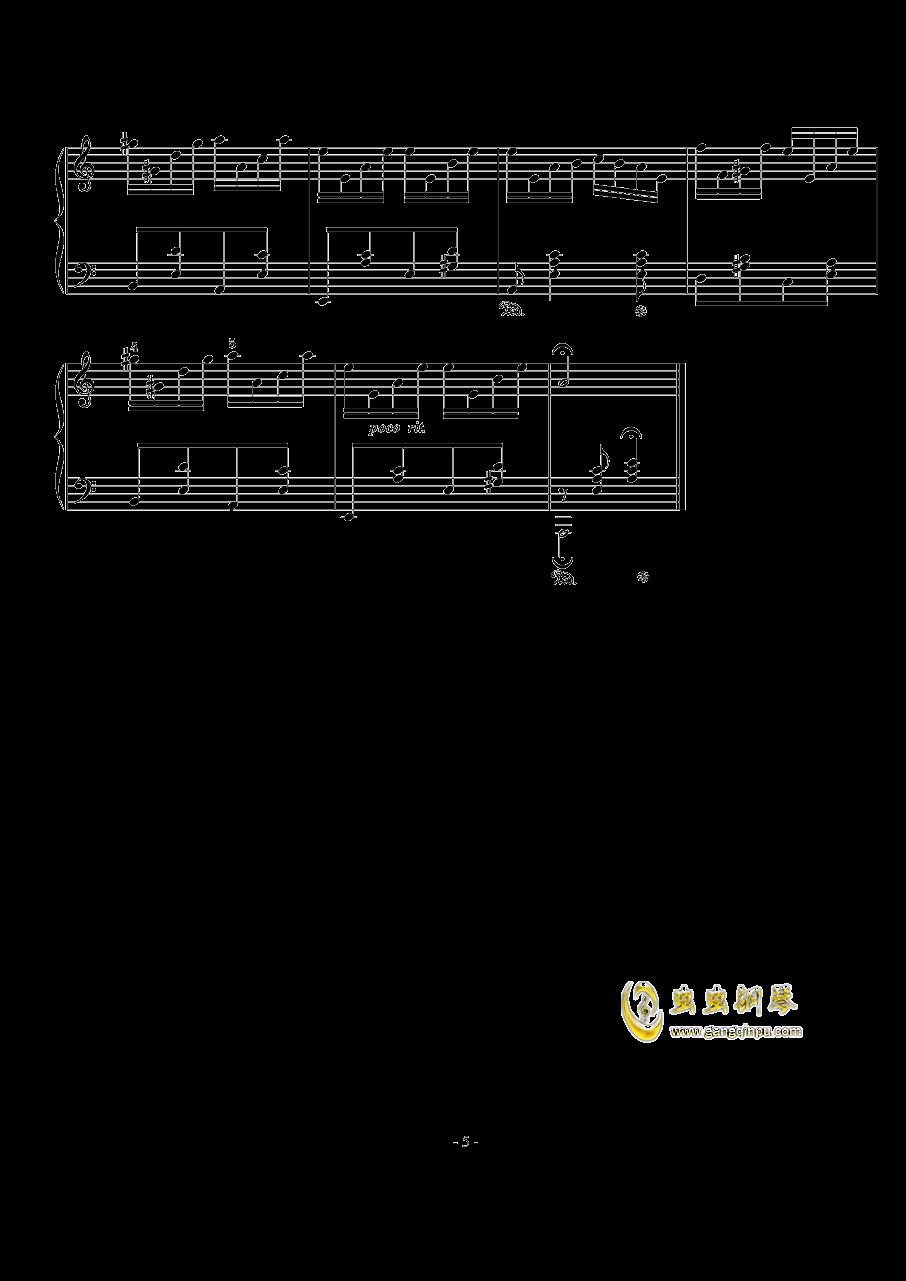 西贝柳斯钢琴谱 第5页