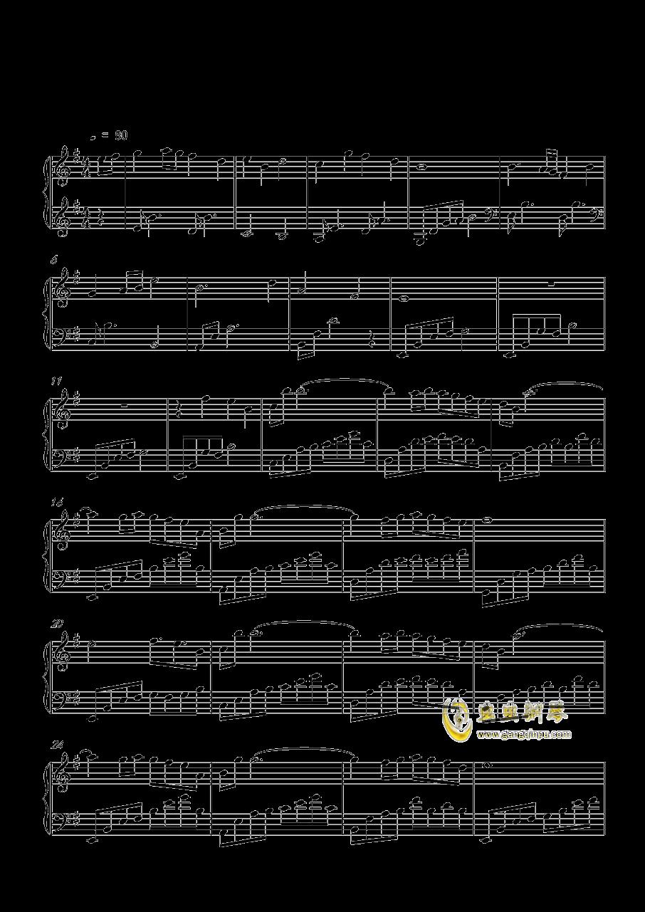 月の明り钢琴谱 第1页