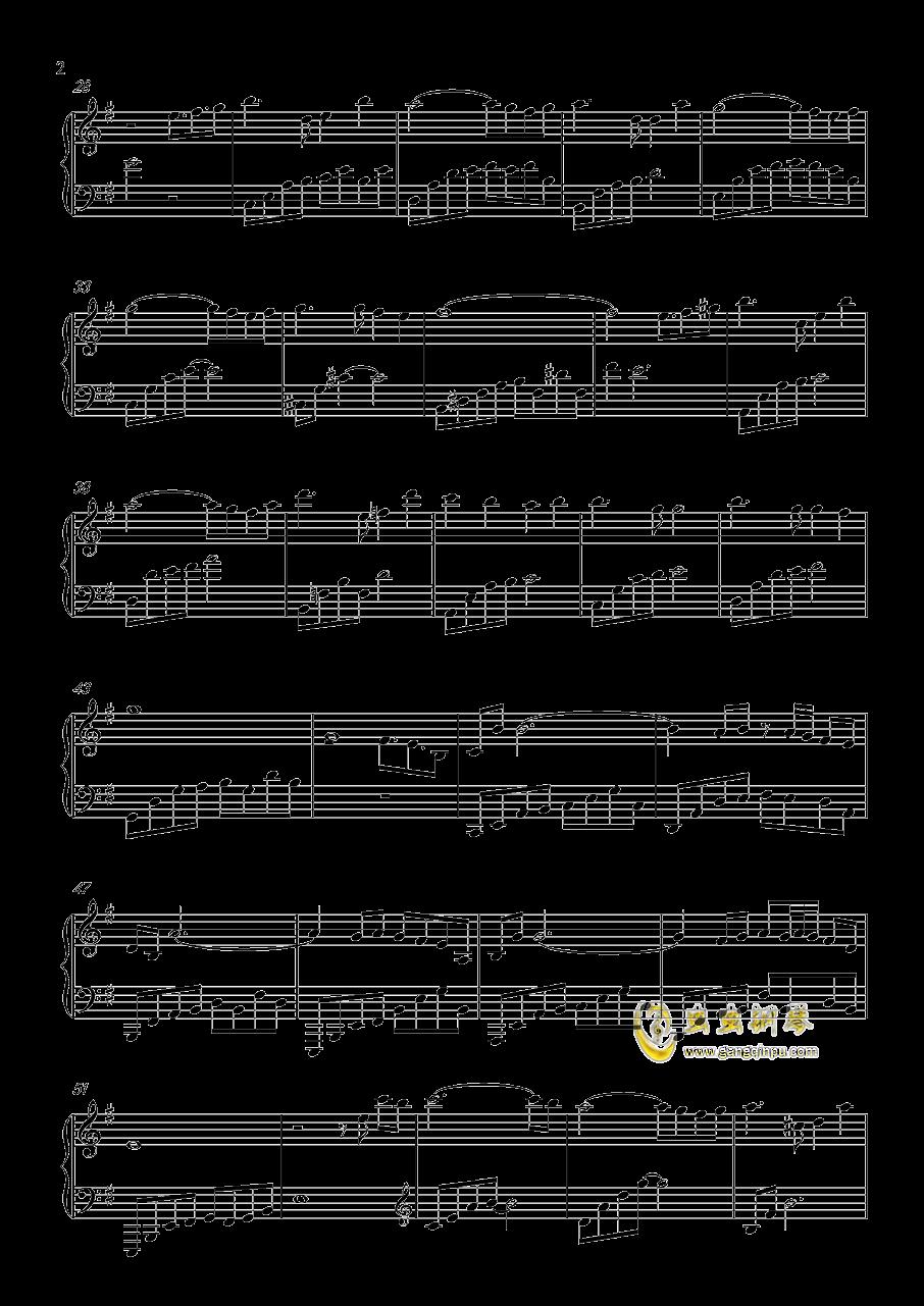 月の明り钢琴谱 第2页