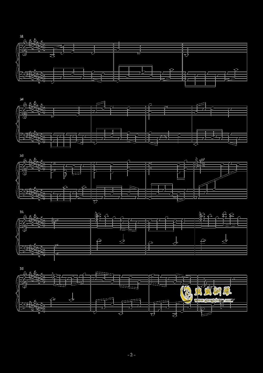 逢��钢琴谱 第2页