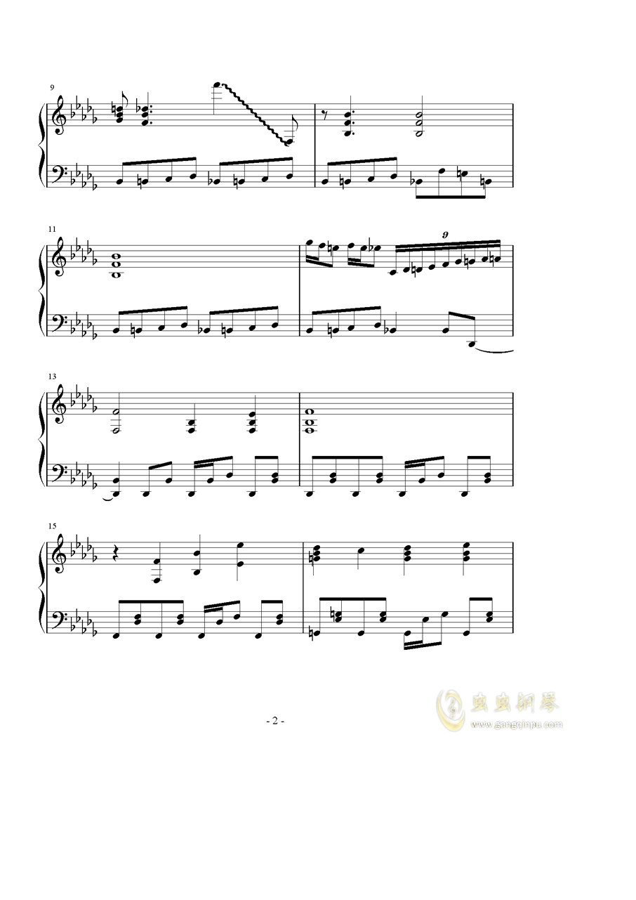 �撑��、�ゆ钢琴谱 第2页