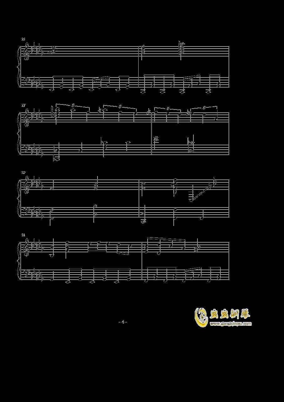 �撑��、�ゆ钢琴谱 第4页