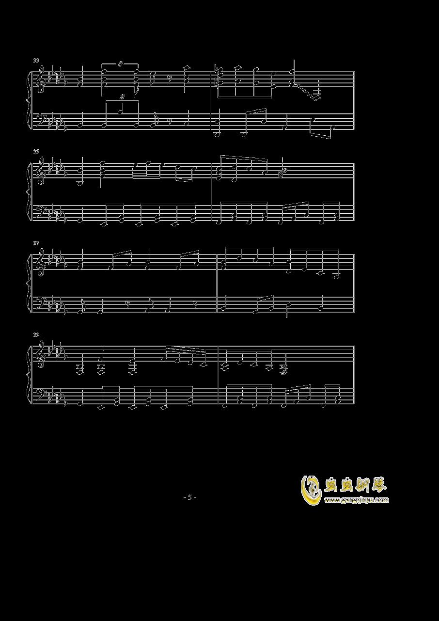 �撑��、�ゆ钢琴谱 第5页