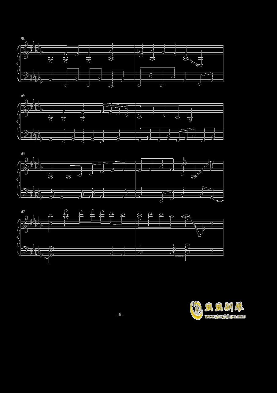 �撑��、�ゆ钢琴谱 第6页
