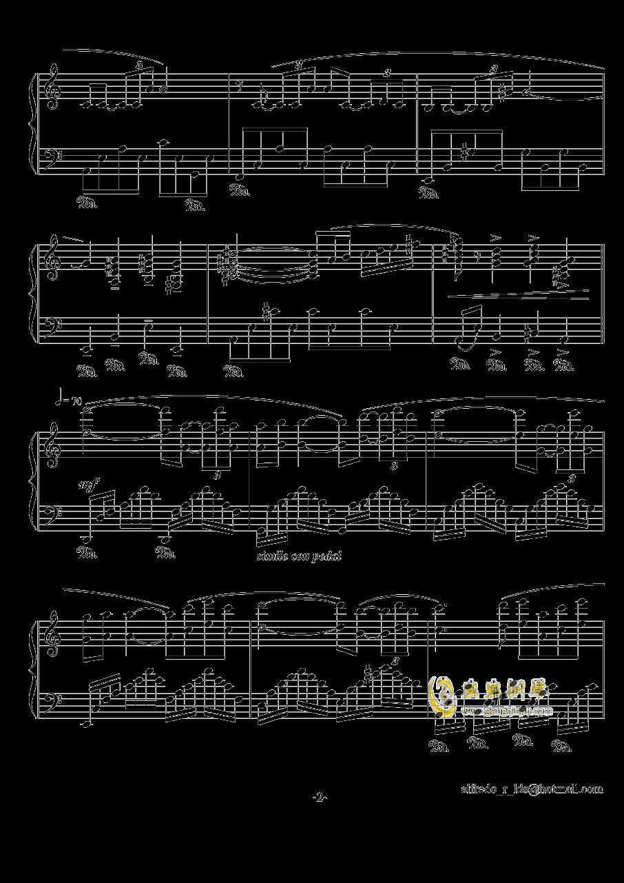 爱的故事钢琴谱 第2页
