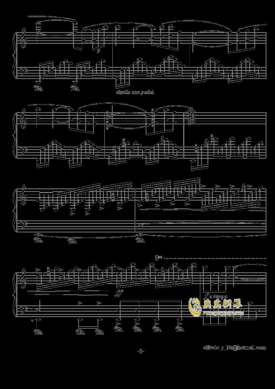爱的故事钢琴谱 第3页