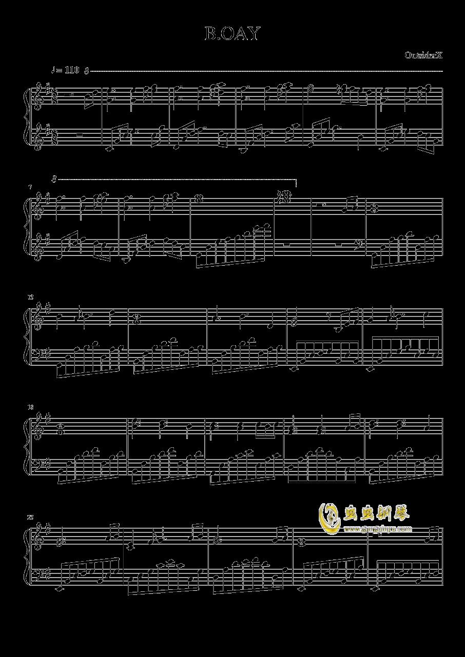 B.OAY钢琴谱 第1页