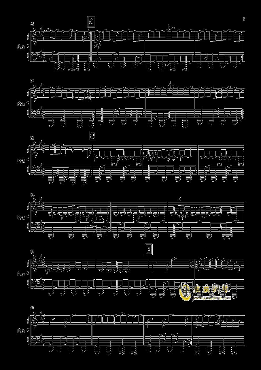 エイリアン钢琴谱 第3页