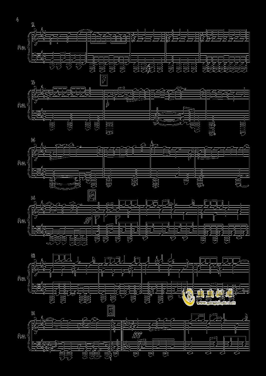 エイリアン钢琴谱 第4页
