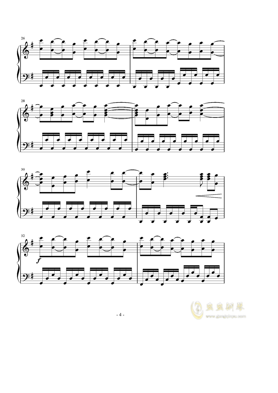 Catch the Moment钢琴谱 第4页