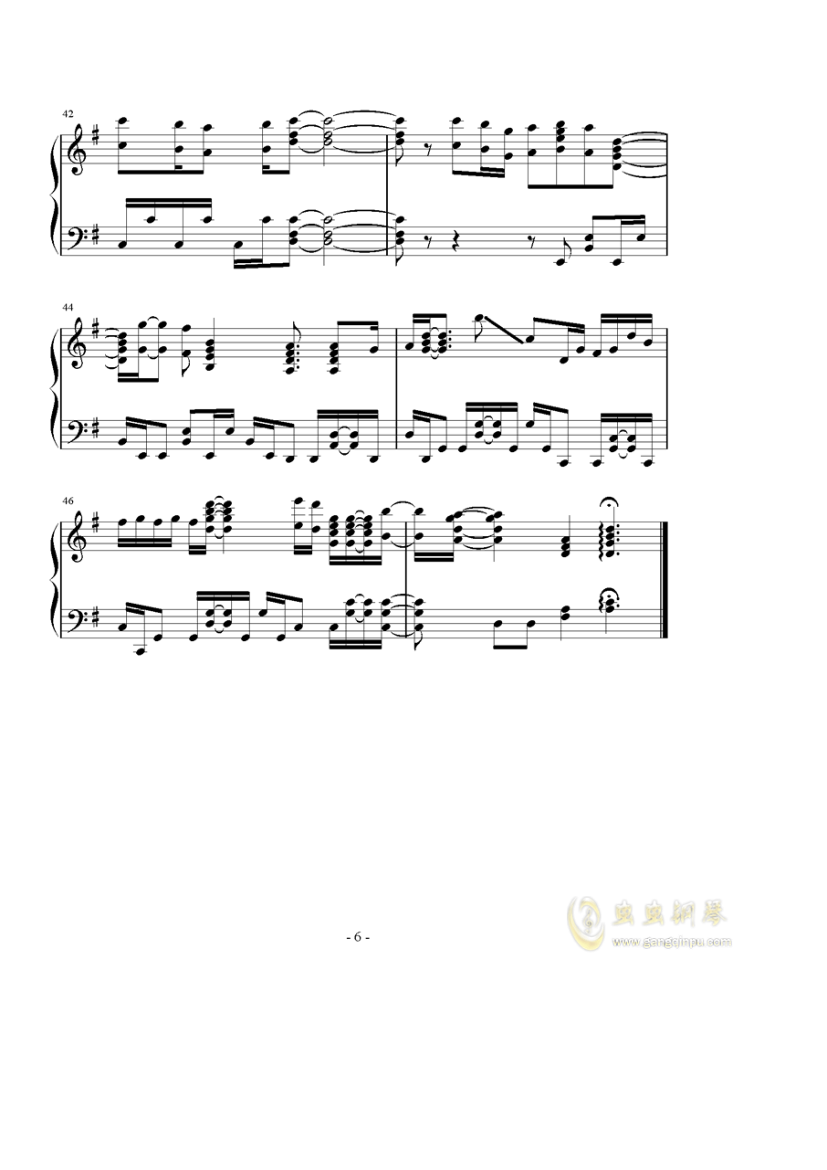 Catch the Moment钢琴谱 第6页